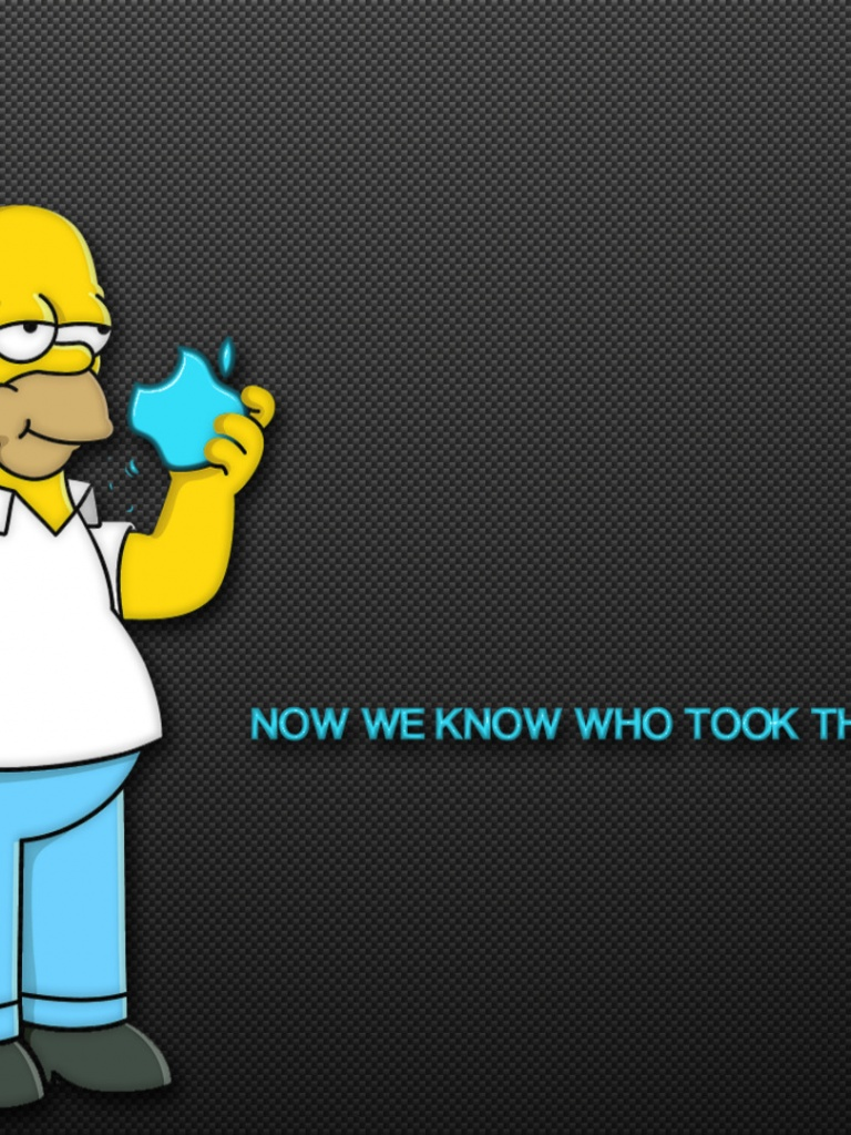 768x1024 Homer Simpson Culprit Ipad Mini Wallpaper