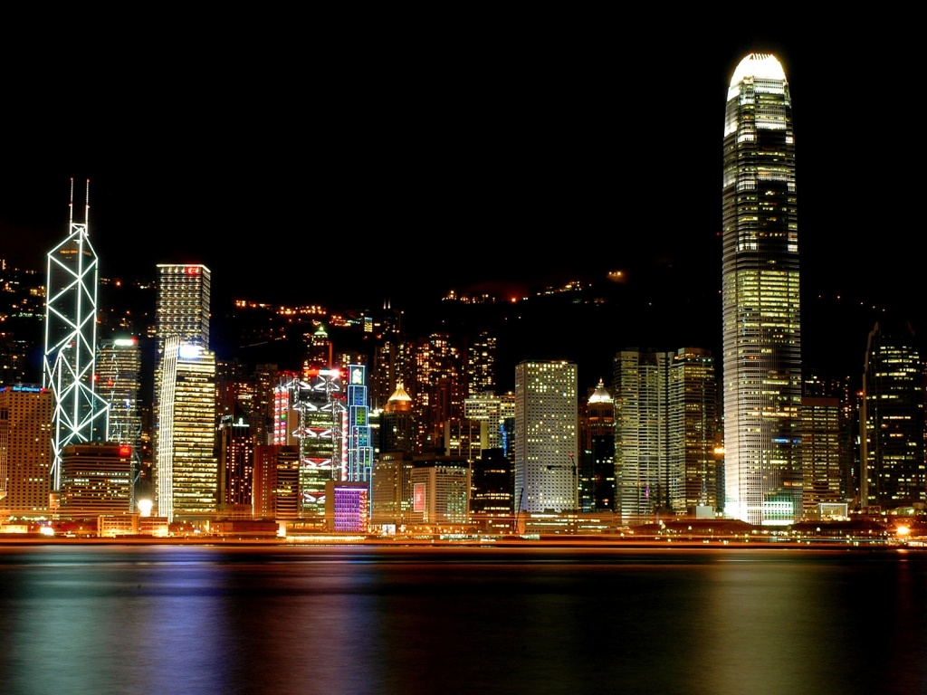 1024x768 Hong Kong lights