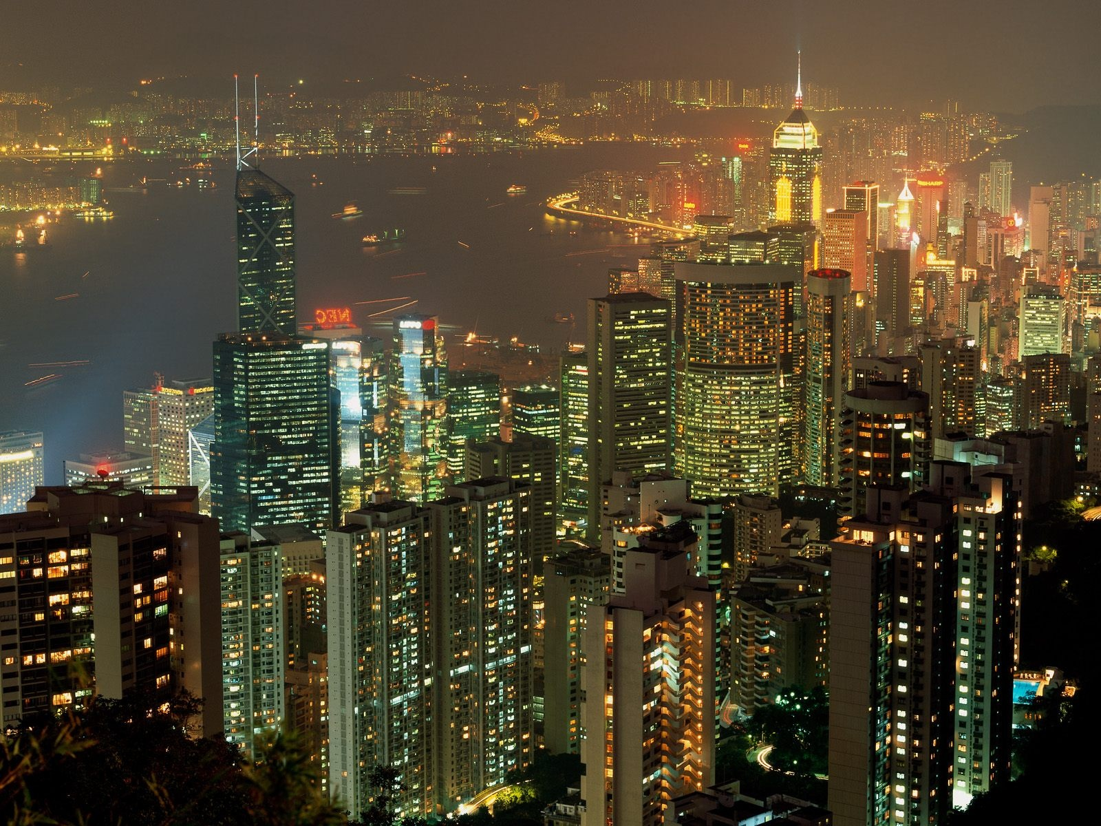 1600x1200 Hong Kong lights
