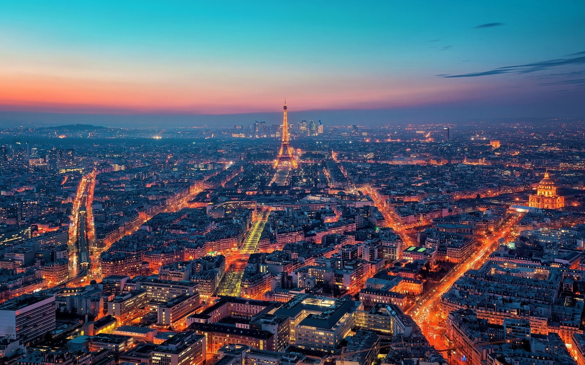 Horizon Night Lights Paris Wallpapers Horizon Night Lights Paris Stock Photos
