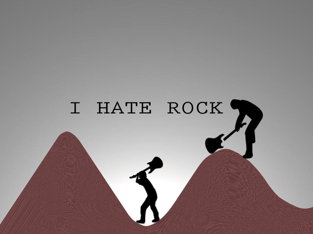1024x768 I Hate Rock desktop wallpapers and stock photos
