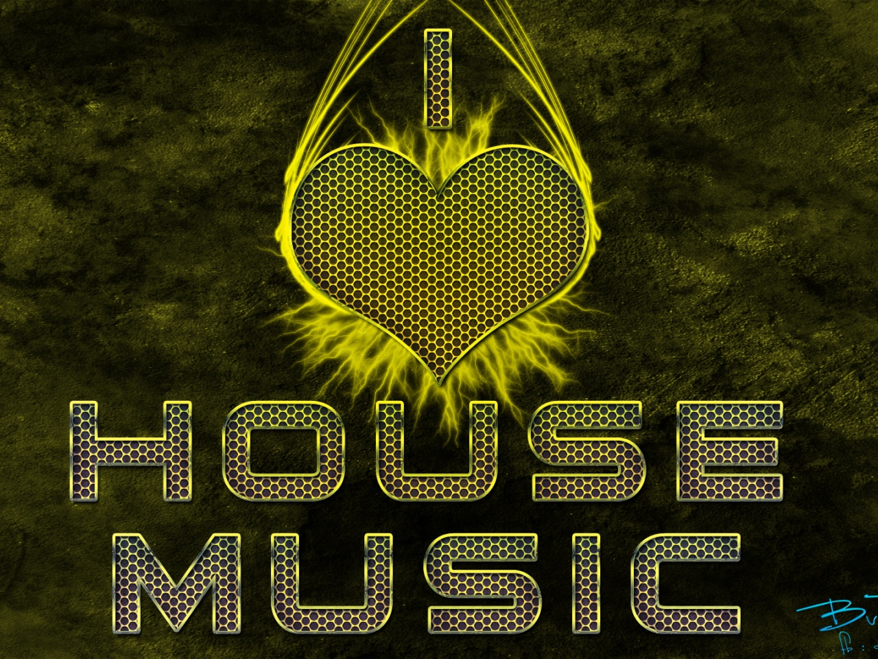 1280x960 I love house music