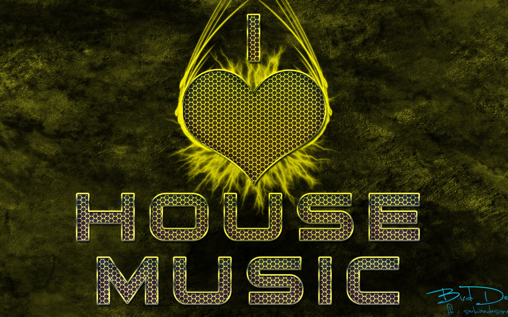 1680x1050 I love house music