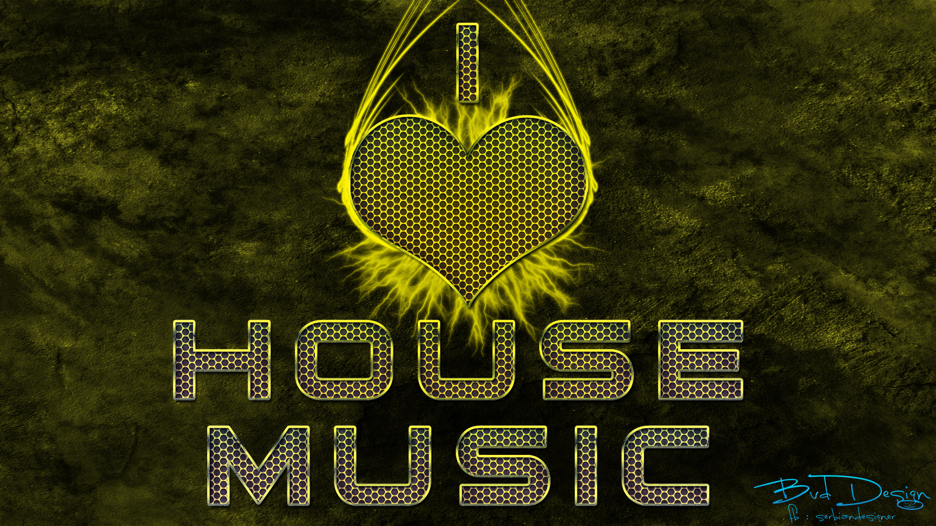 1920x1080 I love house music
