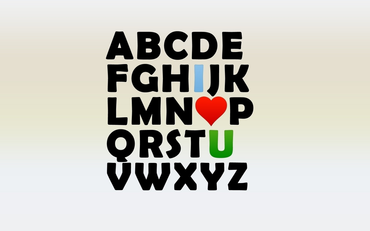 1280x800 i love u alphabet desktop pc and mac wallpaper