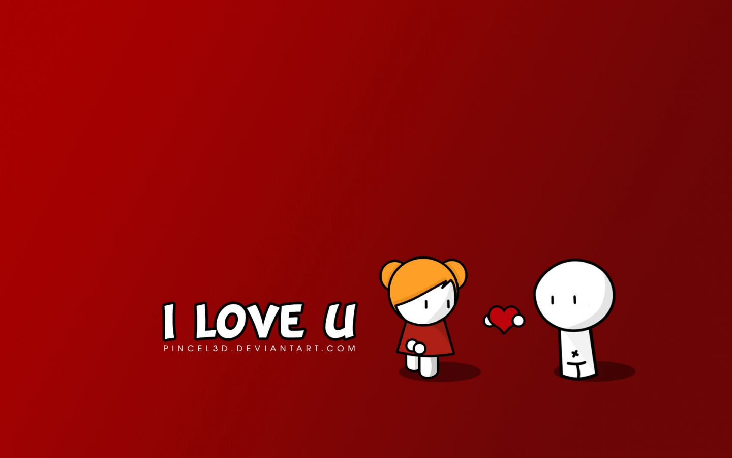 1440x900 I Love U desktop PC and Mac wallpaper