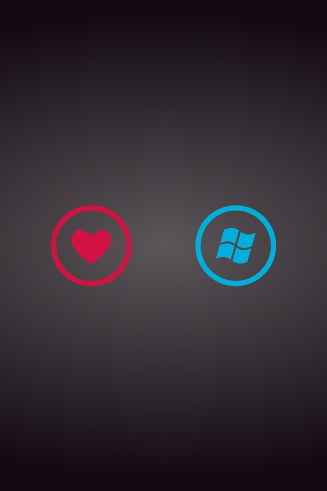 640x960 I Love Windows Phone Iphone 4 wallpaper