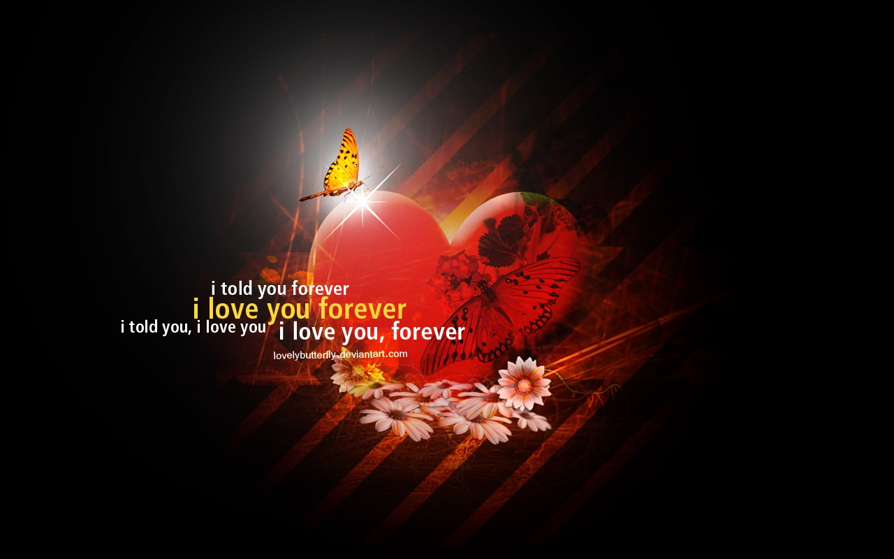 1280x800 I love you forever desktop Pc and Mac wallpaper