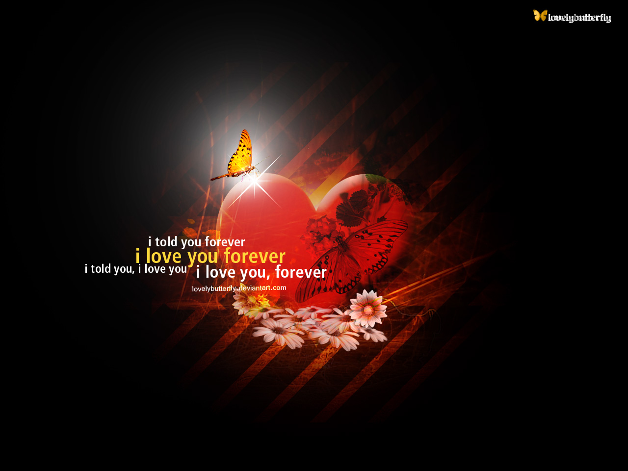 1280x960 I love you forever desktop Pc and Mac wallpaper