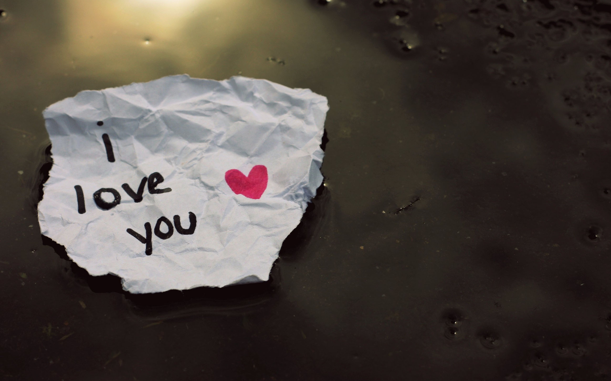 2560x1600 I love you on paper desktop Pc and Mac wallpaper