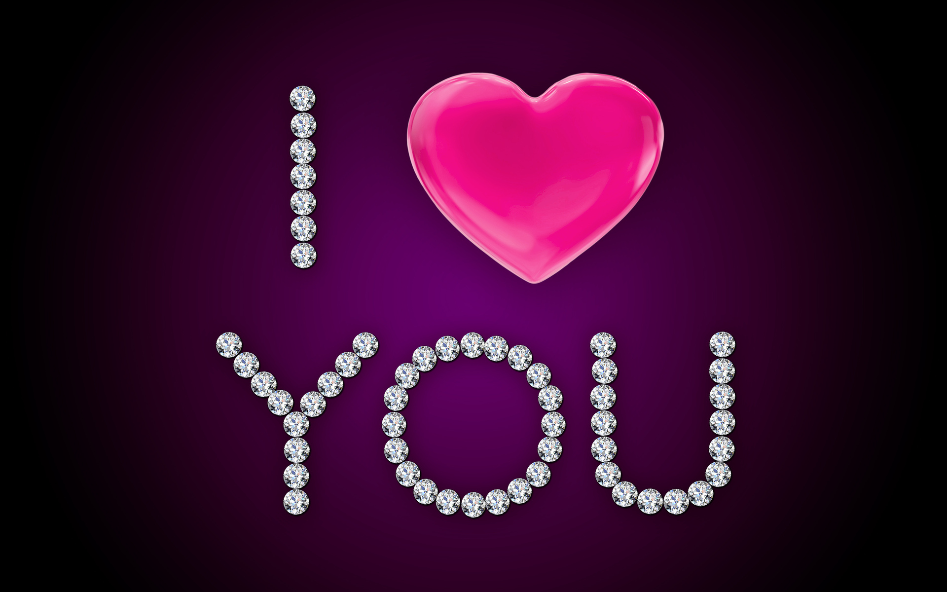 Wallpaper I Love You Heart : I Love You Pink Heart Diamonds wallpapers I Love You Pink Heart Diamonds stock photos