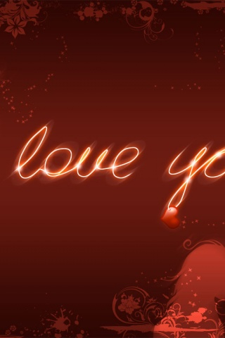 Love Wallpaper For Iphone 3gs : 320x480 I love you Iphone 3g wallpaper