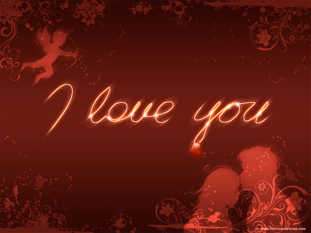 Background Laptop Wallpaper Love : 1024x768 I love you desktop Pc and Mac wallpaper