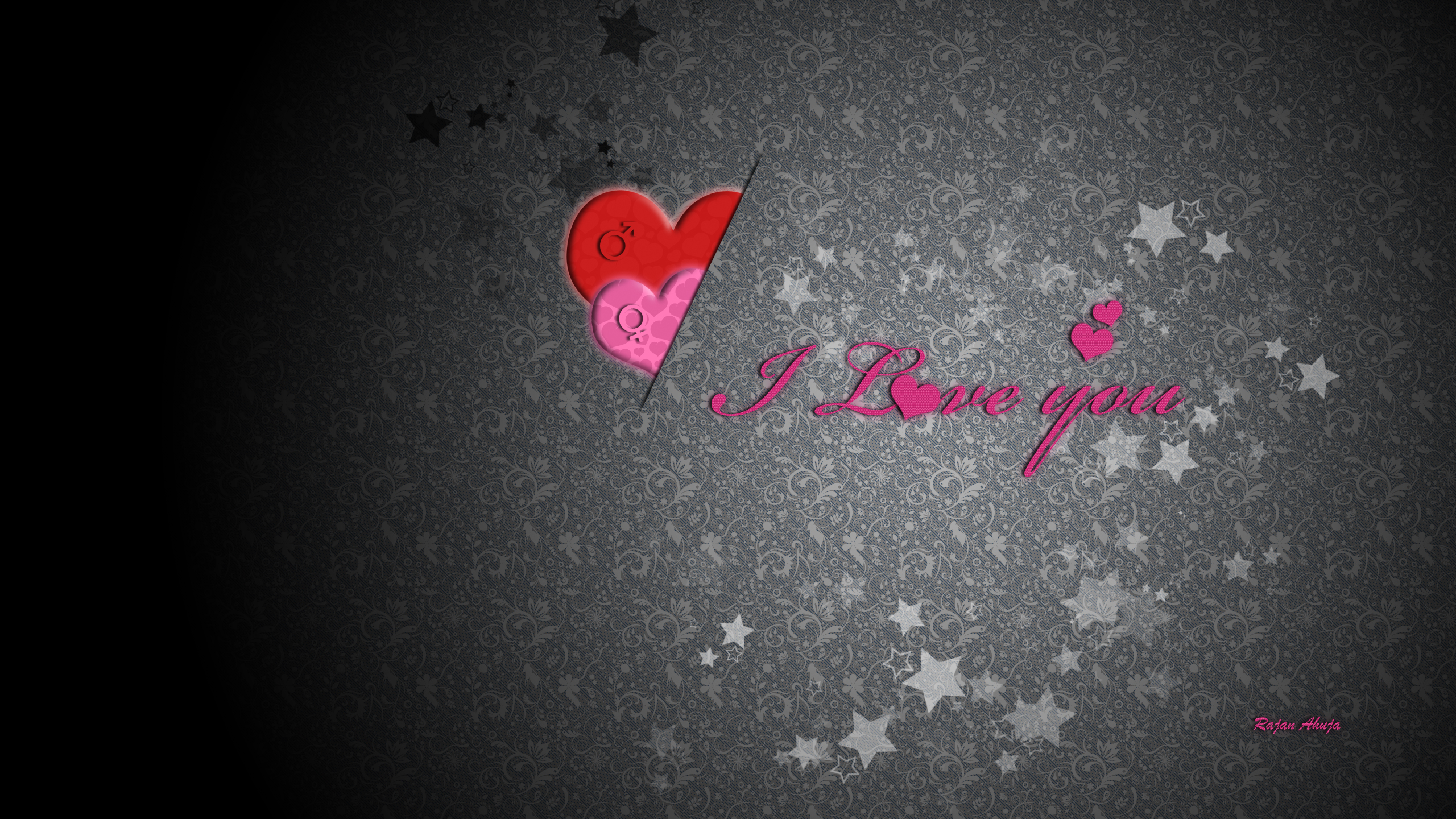 Desktop Wallpaper I Love You : 2560x1440 I love you desktop Pc and Mac wallpaper