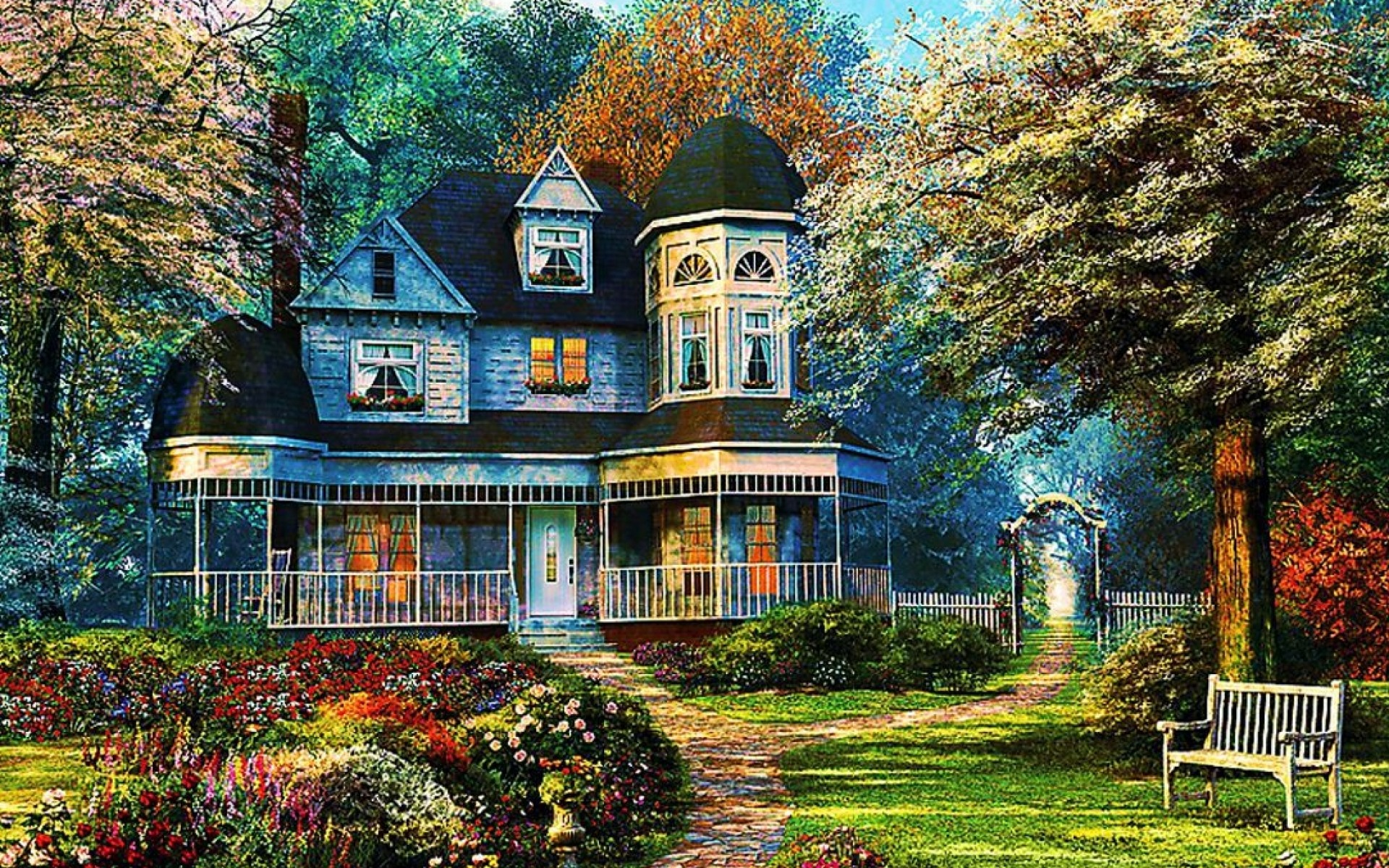 Idyllic Home Wallpapers Idyllic Home Stock Photos