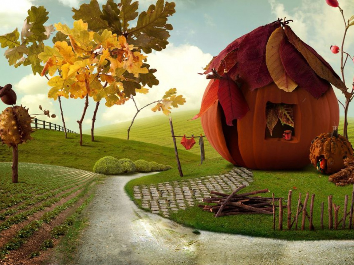 1152x864 Imaginative Autumn Scenery