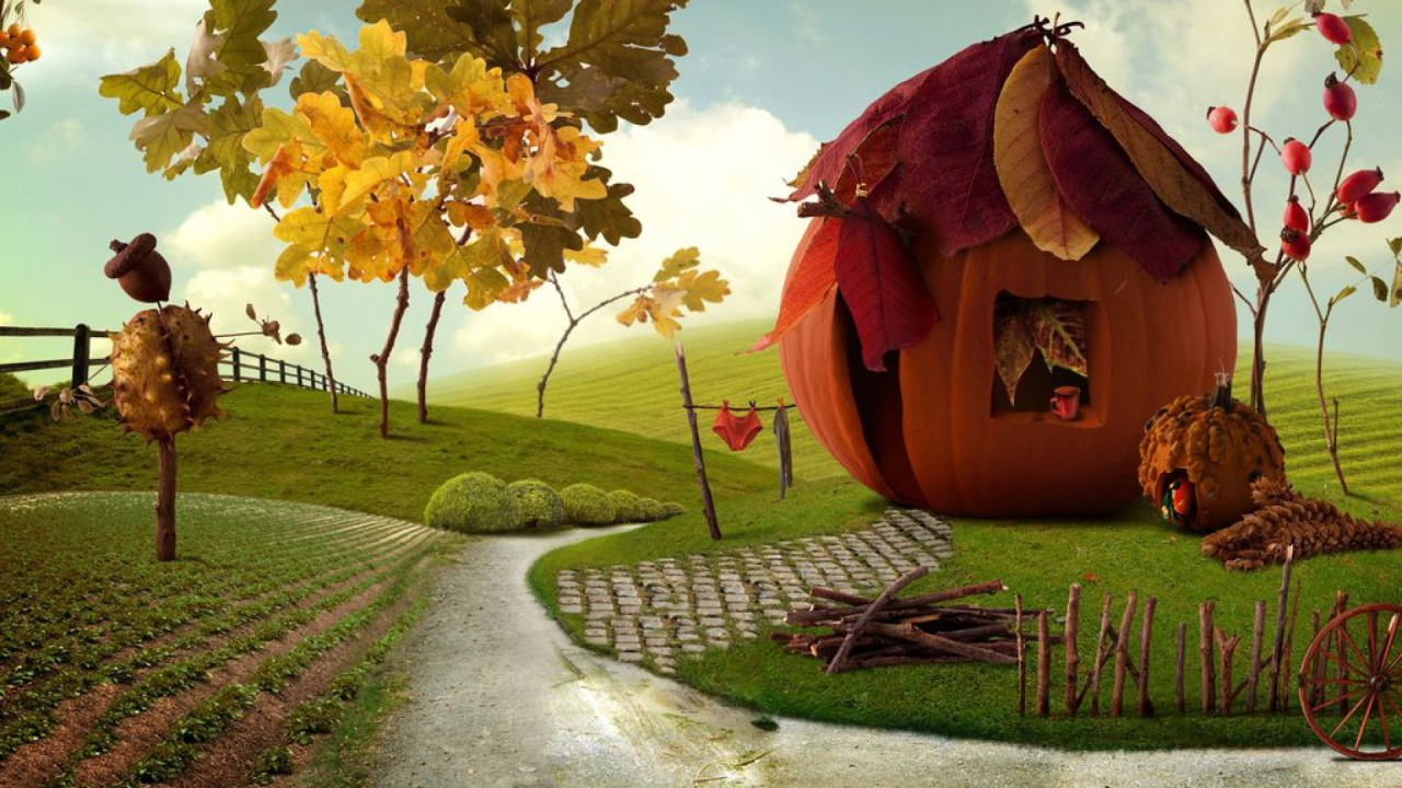 1280x720 Imaginative Autumn Scenery