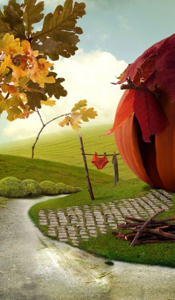 600x1024 Imaginative Autumn Scenery