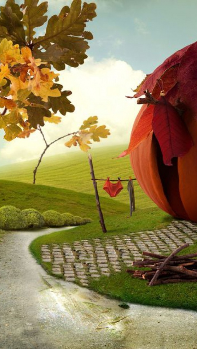 640x1136 Imaginative Autumn Scenery