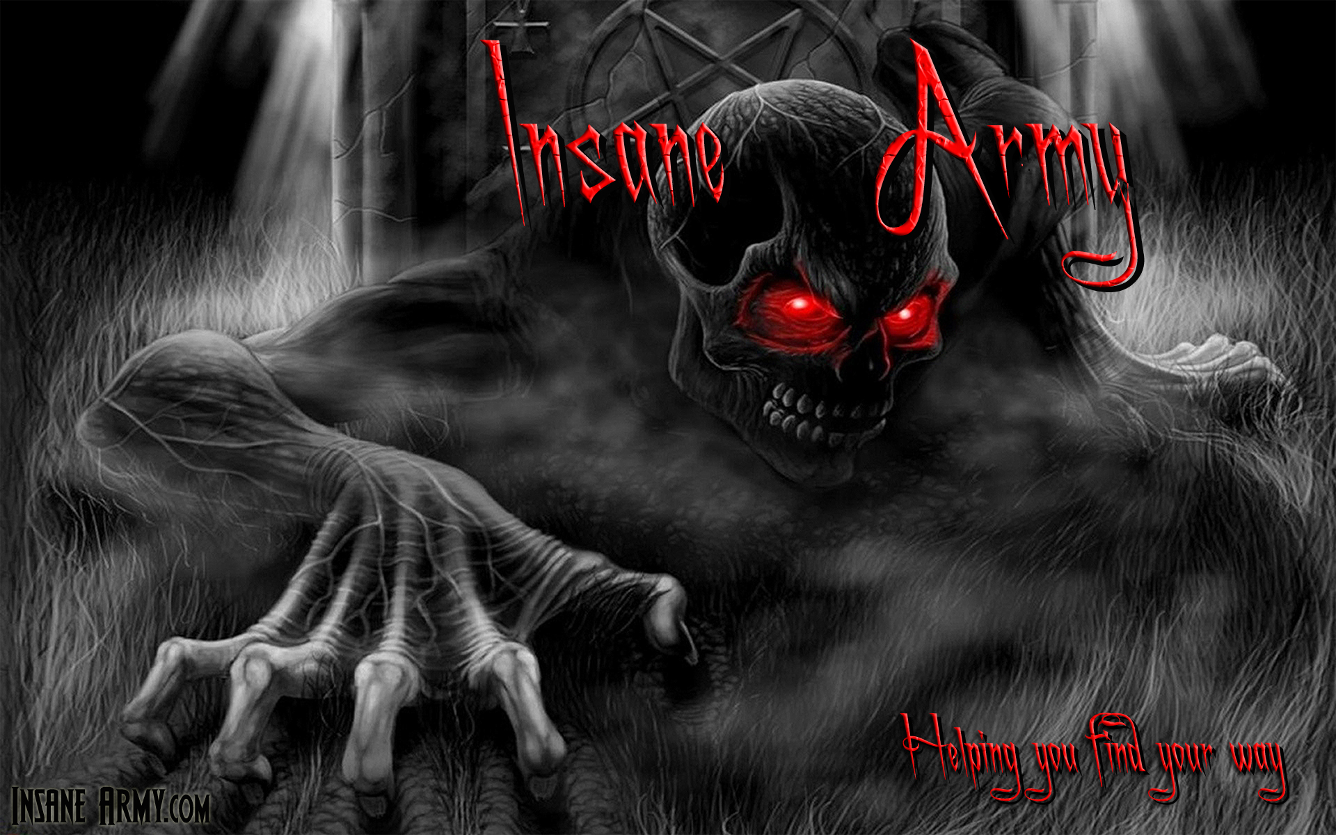 Image Insane Army Red SkulL Wallpapers And Stock Photos