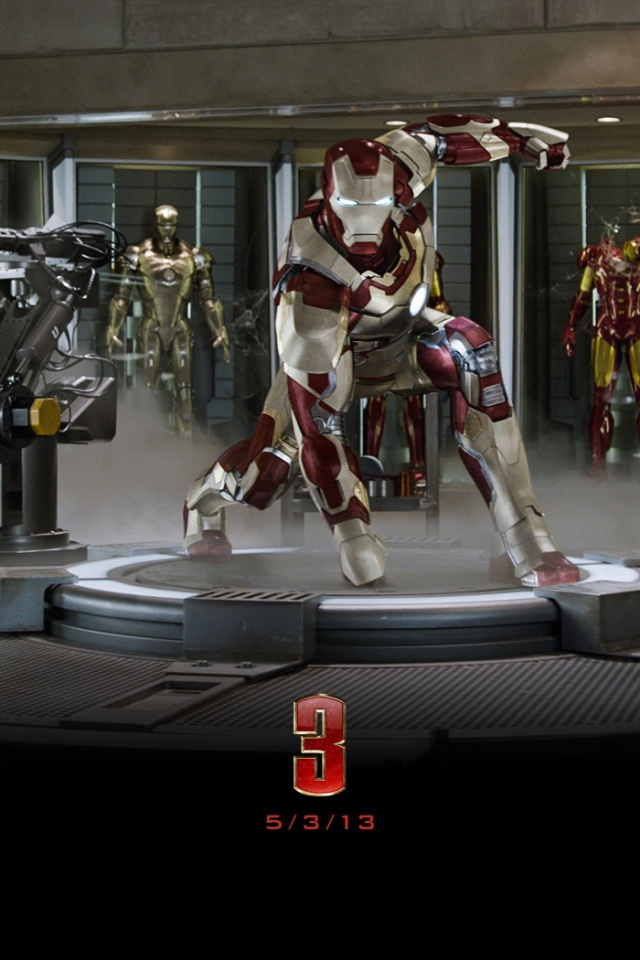 640x960 Iron Man 3 Suit Iphone 4 Wallpaper