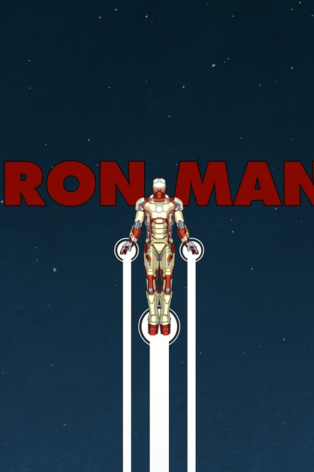 640x960 Iron Man Artwork Iphone 4 Wallpaper