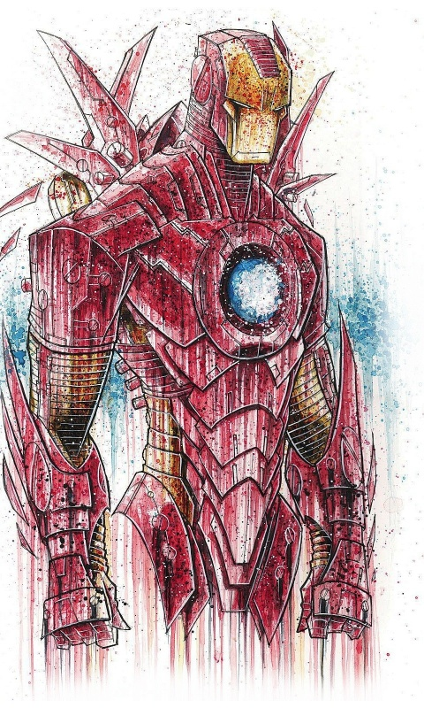 480x800 Ironman Suit Sketch Lumia 900 Wallpaper