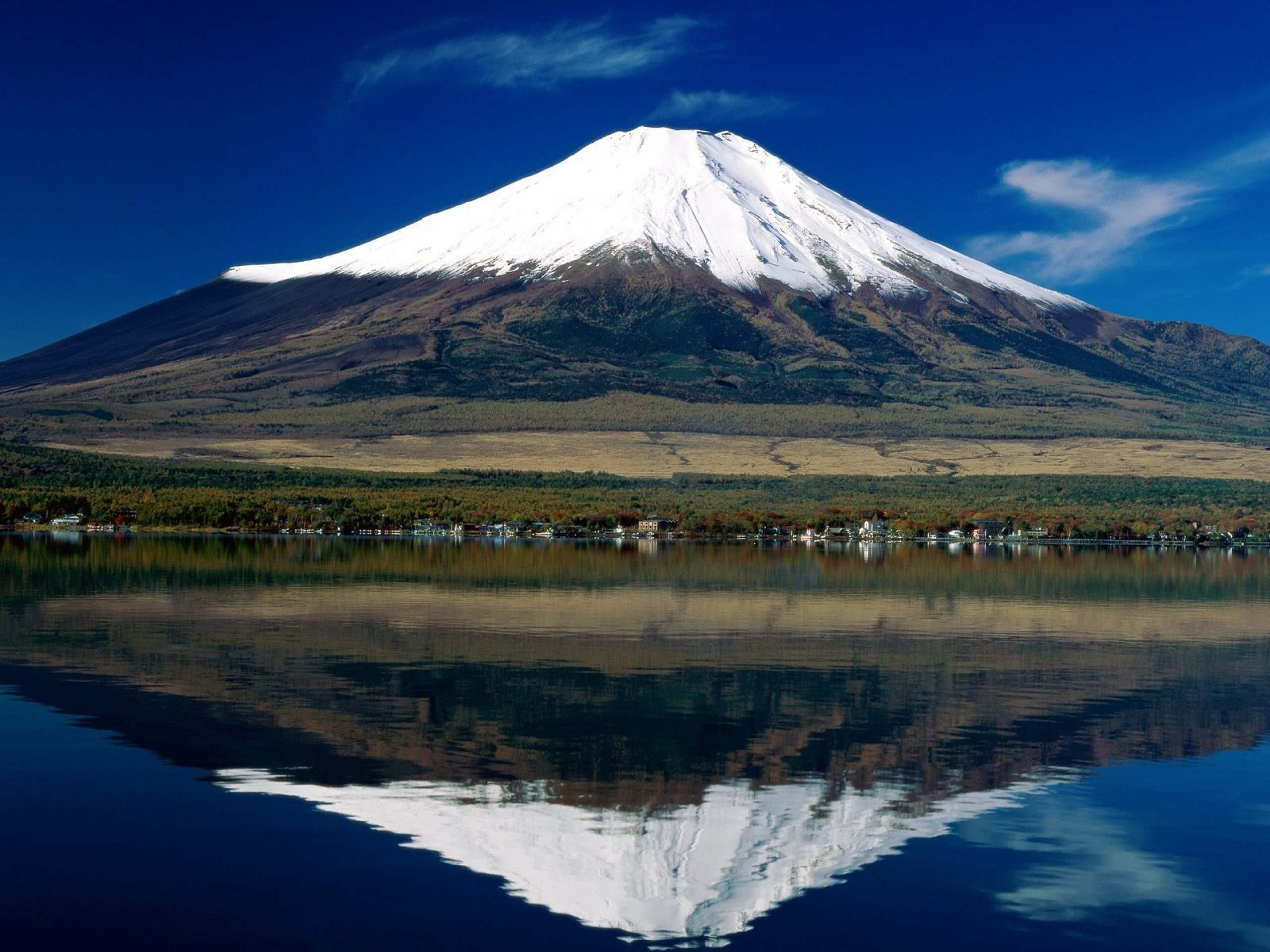 2560x1440 Japan Mount Fuji Lake Reflect Youtube Channel Cover