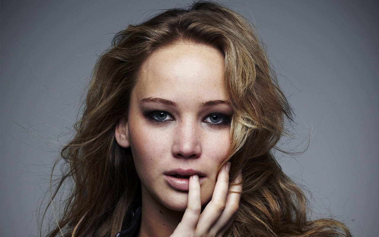 1280x800 Jennifer Lawrence Close-up desktop PC and Mac wallpaper