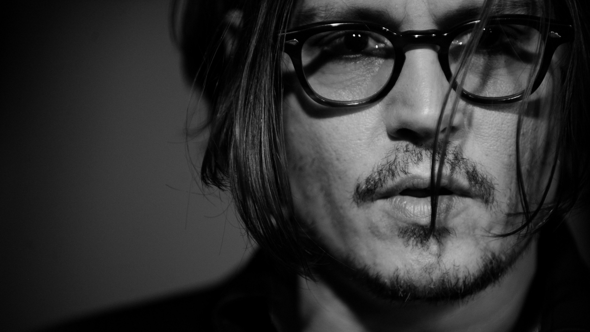 1920x1080 Johnny Depp Monochrome Close Up Desktop Pc And Mac Wallpaper