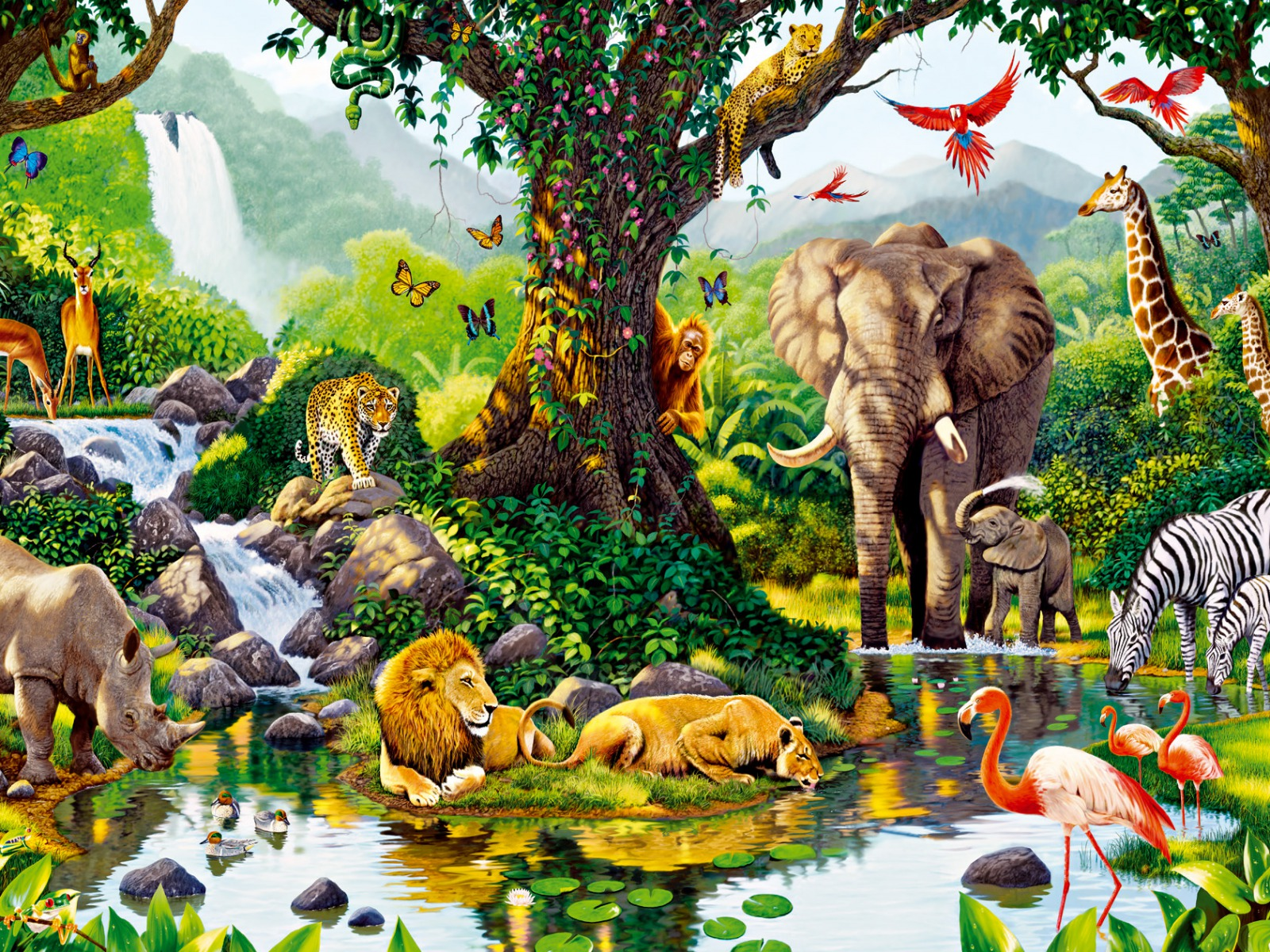 Jungle animals seven wallpapers jungle animals seven for Adaptacion jardin infantil