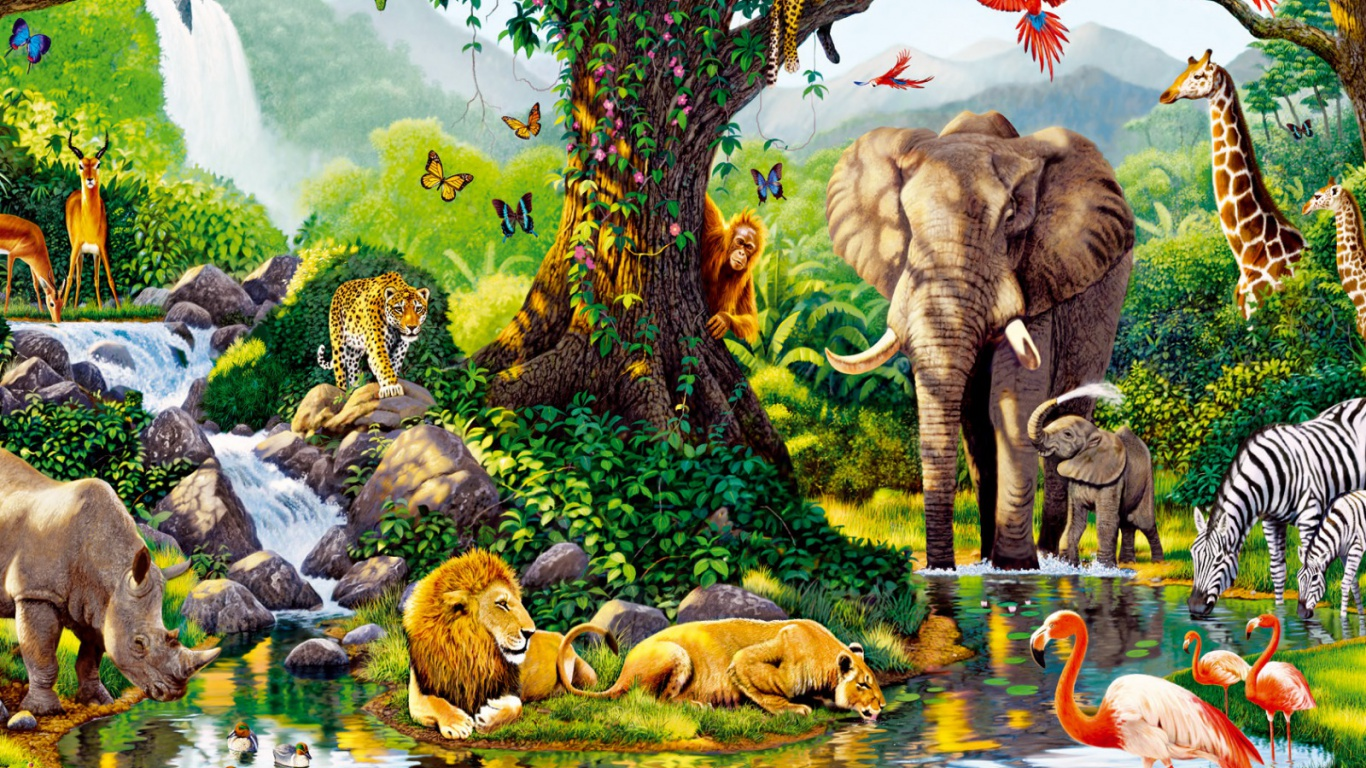 wildlife wallpapers hd 1366x768