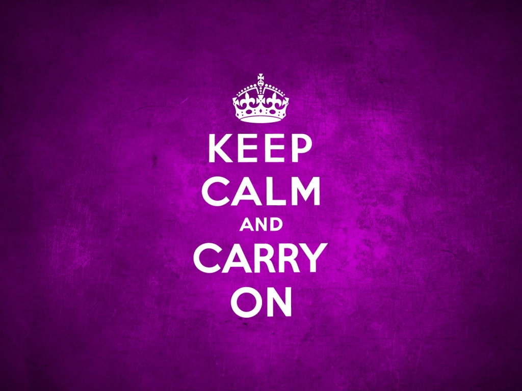 1024x768 Keep Calm And Carry On Purple