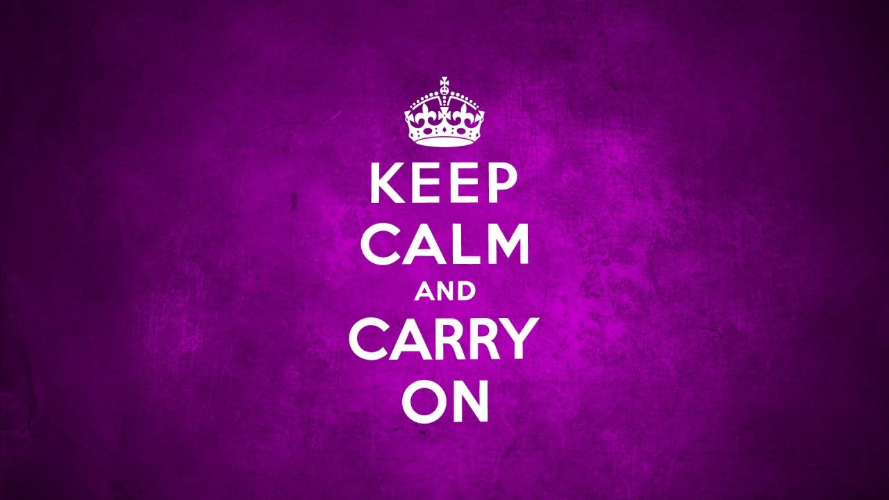 1280x720 Keep Calm And Carry On Purple