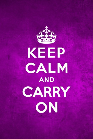 320x480 Keep Calm And Carry On Purple