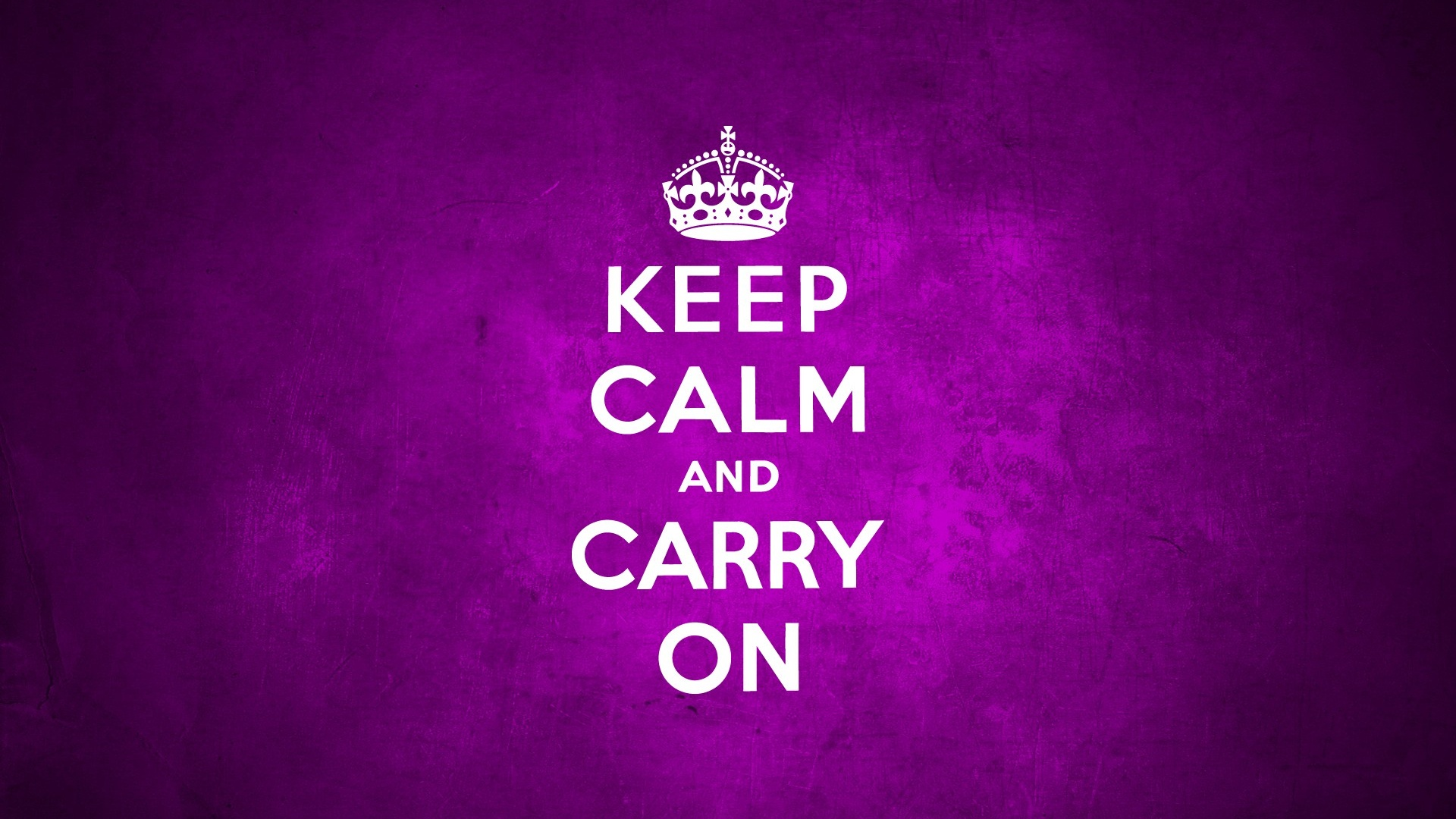 1920x1080 Keep Calm And Carry On Purple Desktop PC Mac Wallpaper
