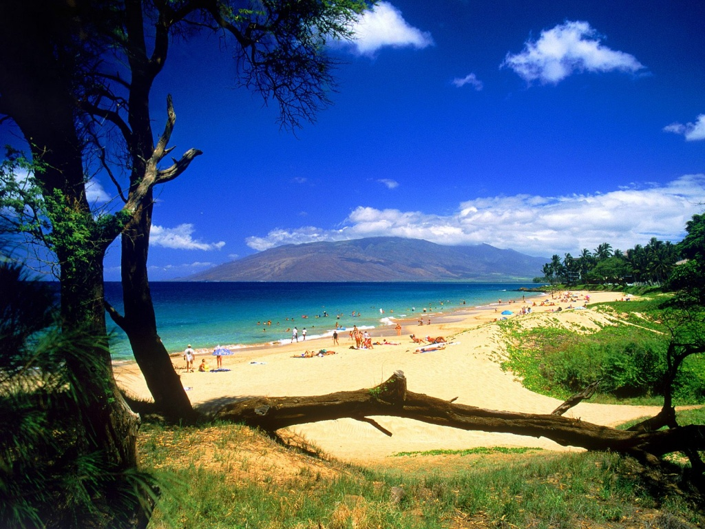 1024x768 kihei beach desktop pc and mac wallpaper