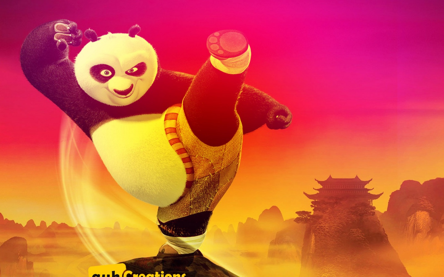 1440x900 Kung Fu Panda 3D desktop PC and Mac wallpaper