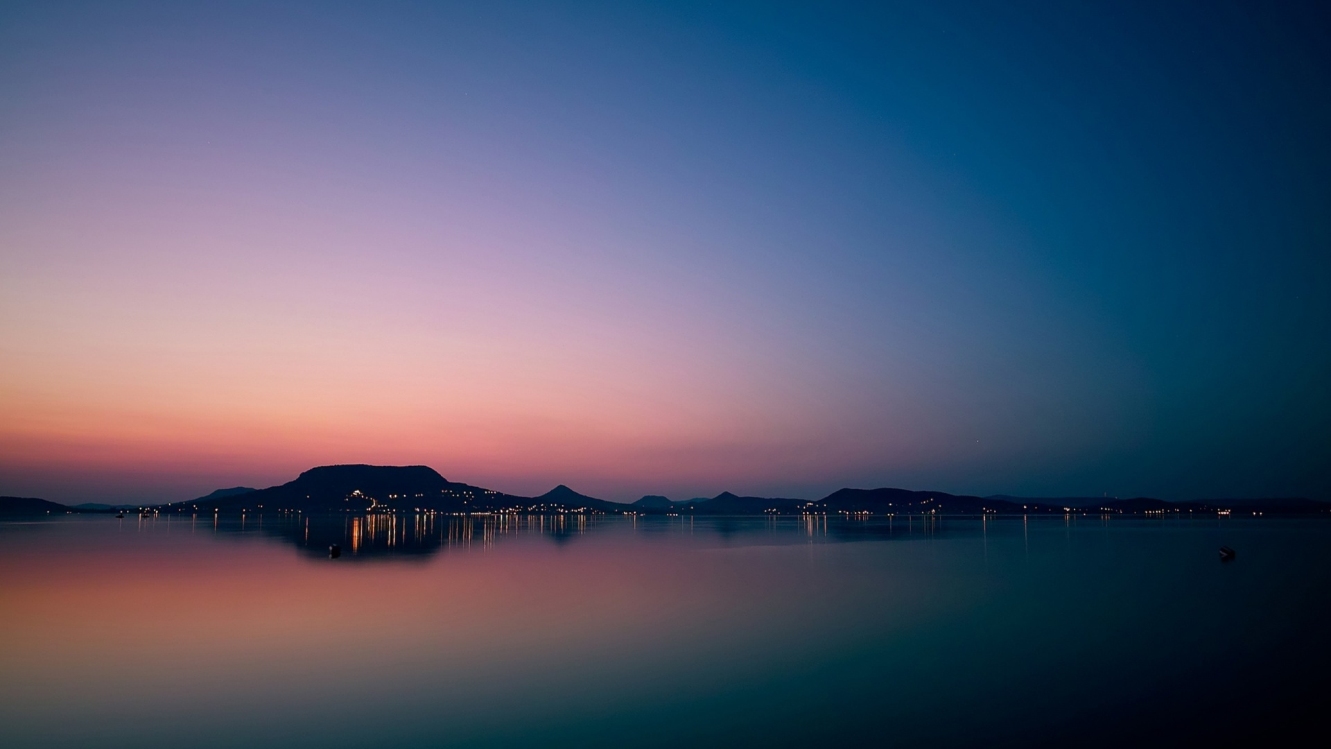 1920x1080 lake balaton sunset desktop pc and mac wallpaper