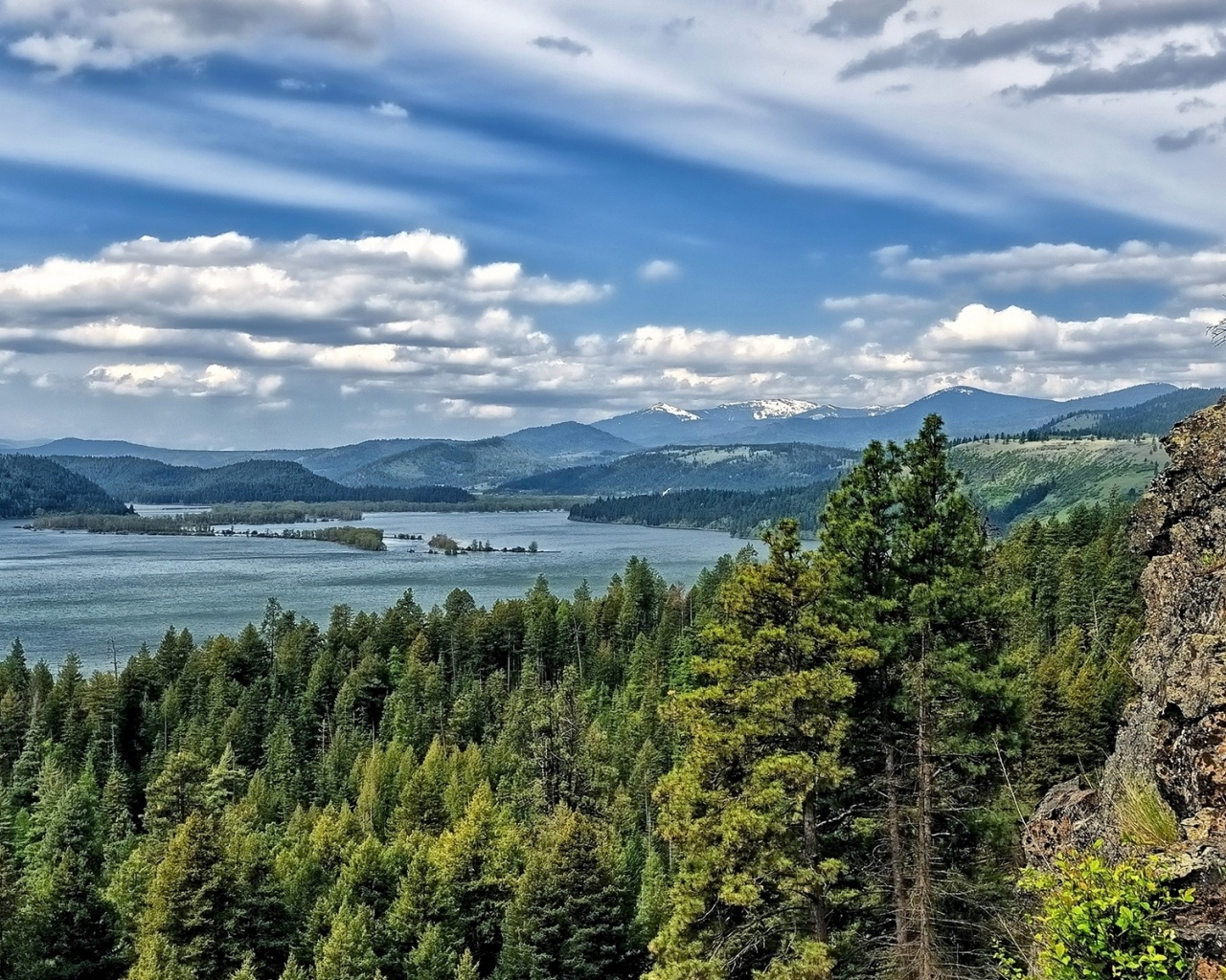 1280x1024 Lake Coeur D'Alene Idaho View