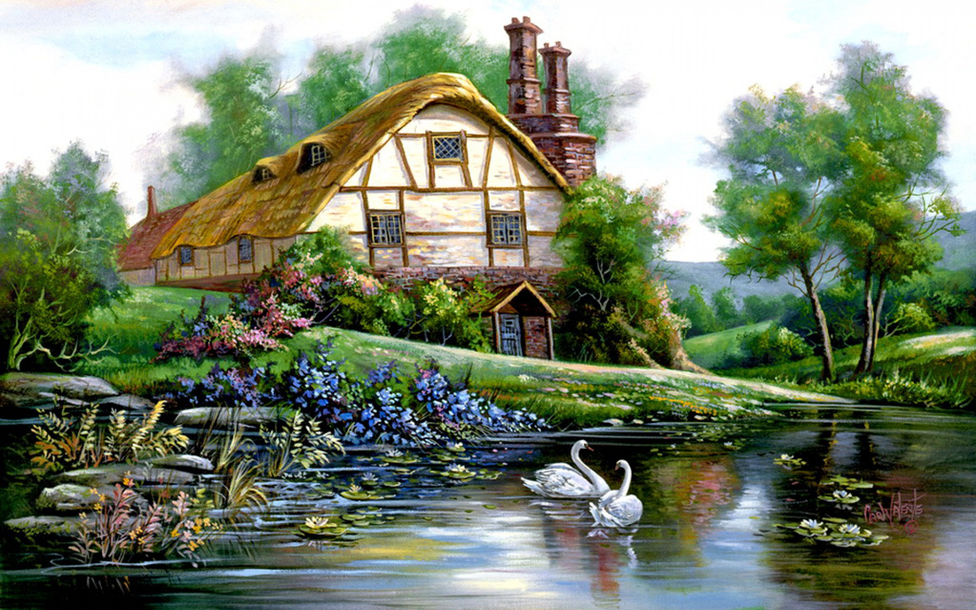 1920x1200 Lake Cottage Desktop Pc And Mac Wallpaper HD Wallpapers Download Free Images Wallpaper [1000image.com]