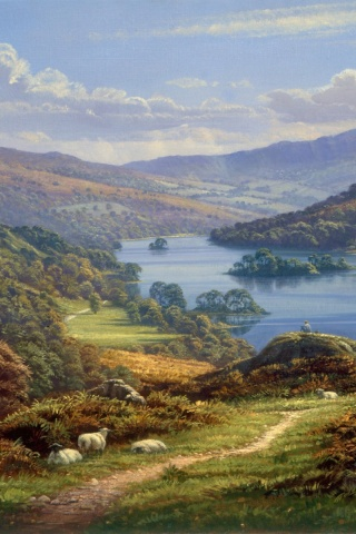 320x480 Lake District England Iphone 3g Wallpaper