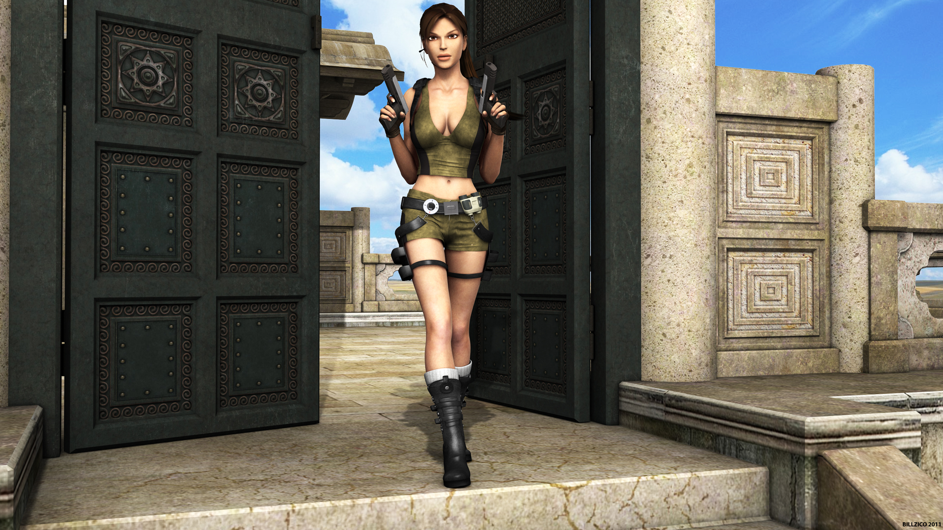 1920x1080 Lara Croft - Daz Studio 3D desktop PC and Mac wallpaper