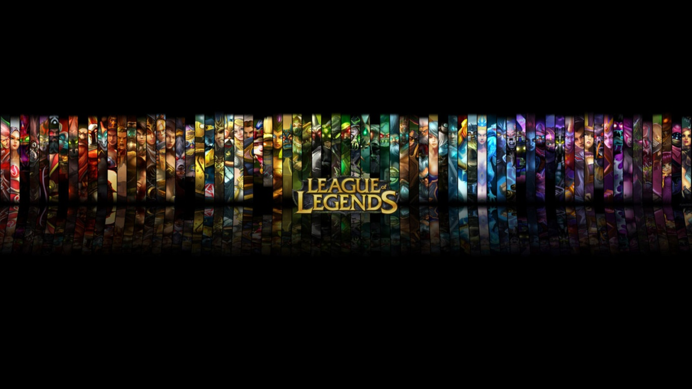 1366x768 League of Legends Black Background desktop PC and