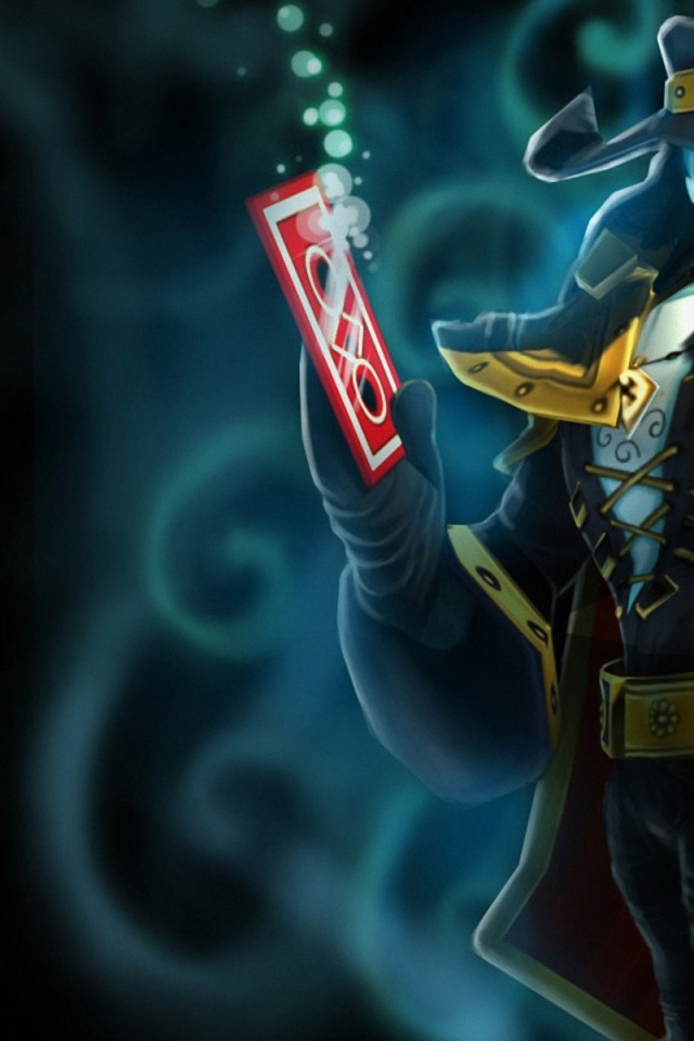 640x960 League Of Legends Twisted Fate Iphone 4 Wallpaper