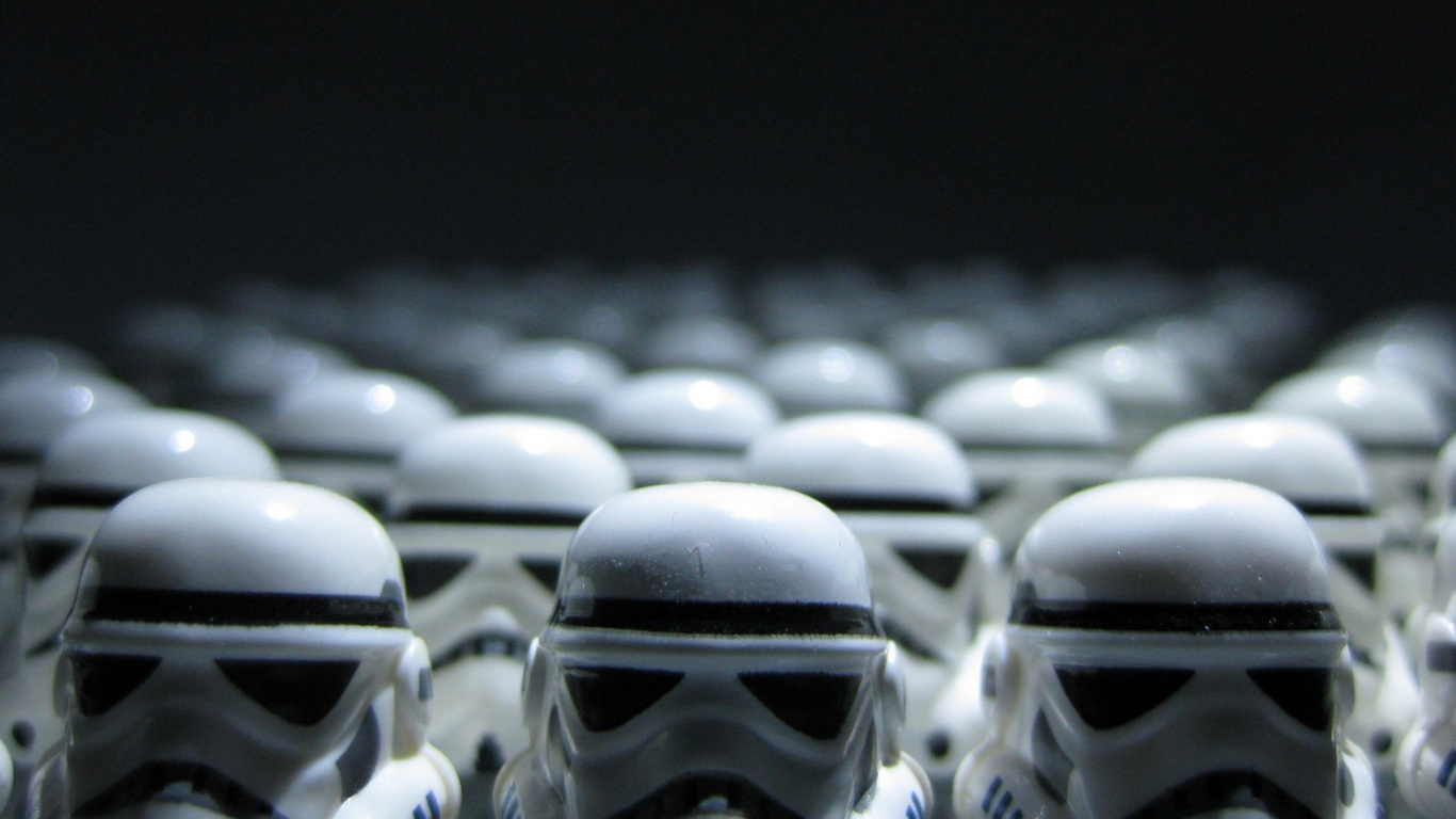 1366x768 Lego Starwars Stormtroopers Desktop Pc And Mac Wallpaper