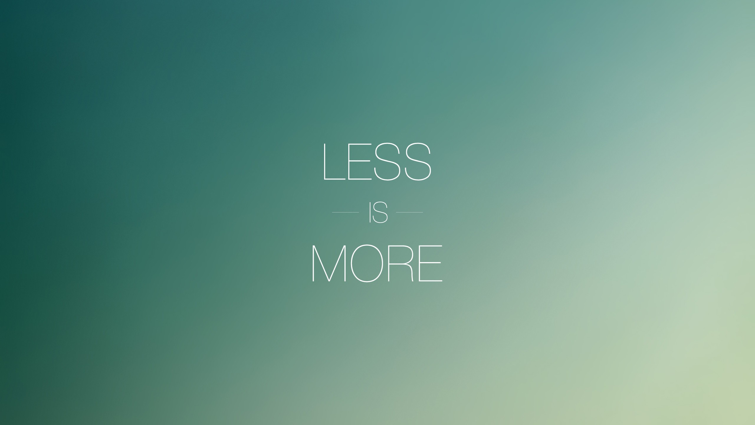 2560x1440 less is more desktop pc and mac wallpaper for More com