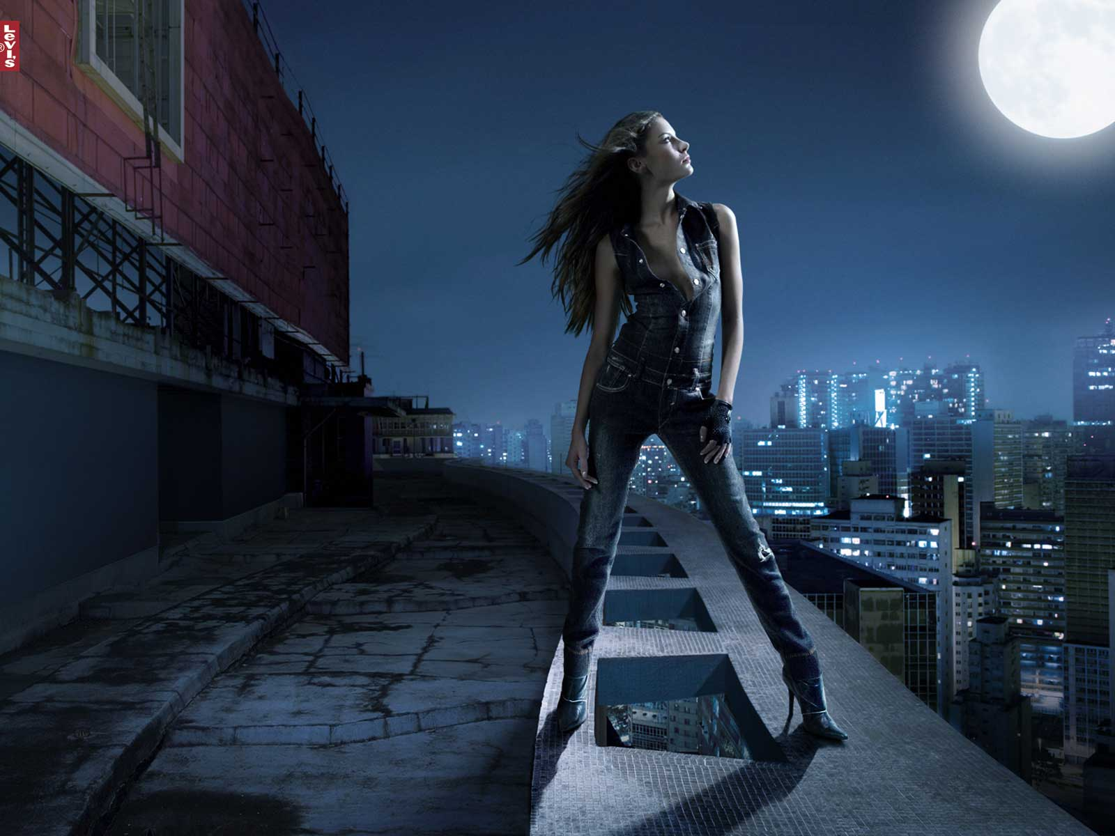 Levi s sexy woman wallpapers levi s sexy woman stock photos for 3d roof wallpaper