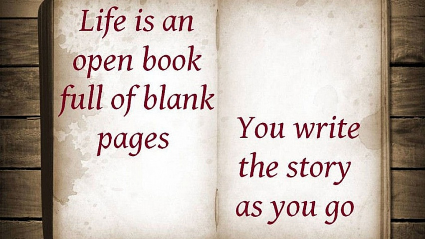 825x315 Life Is An Open Book Facebook Cover Photo