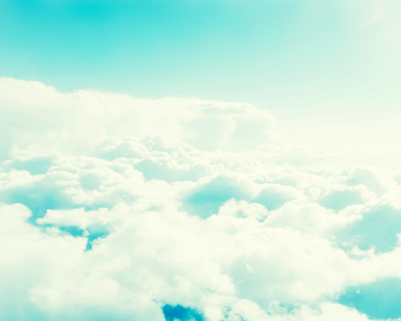 1280x1024 Light Blue Cloudy Sky desktop PC and Mac wallpaper